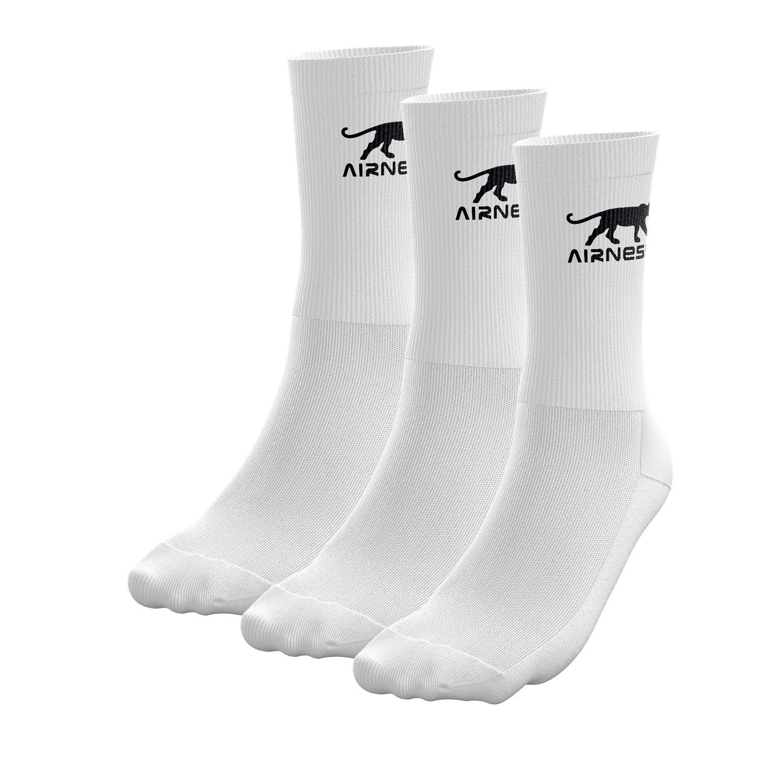 LOT DE 3 PAIRES DE CHAUSETTES HOMME AIRNESS TENNIS CORPORATE