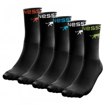 LOT DE 5 PAIRES DE CHAUSSETTES HOMME AIRNESS TENNIS PANTHERE