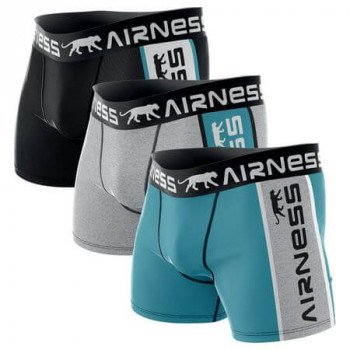 LOT DE 3 BOXERS HOMME AIRNESS DUO
